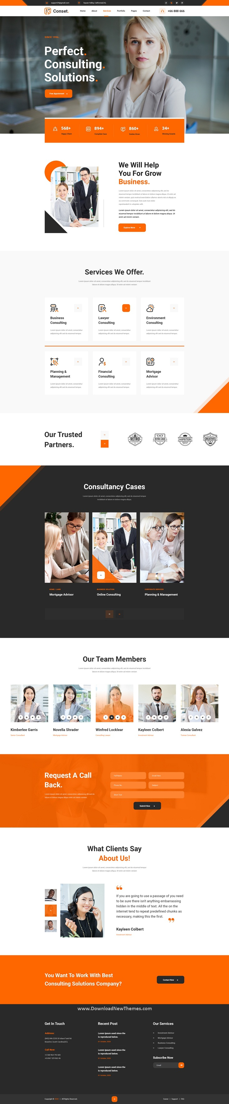 Business Consulting PSD Template