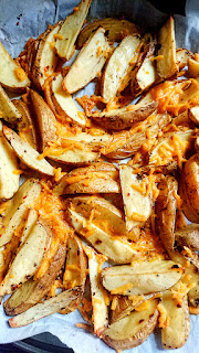 baked potato wedges with dairy free cheese