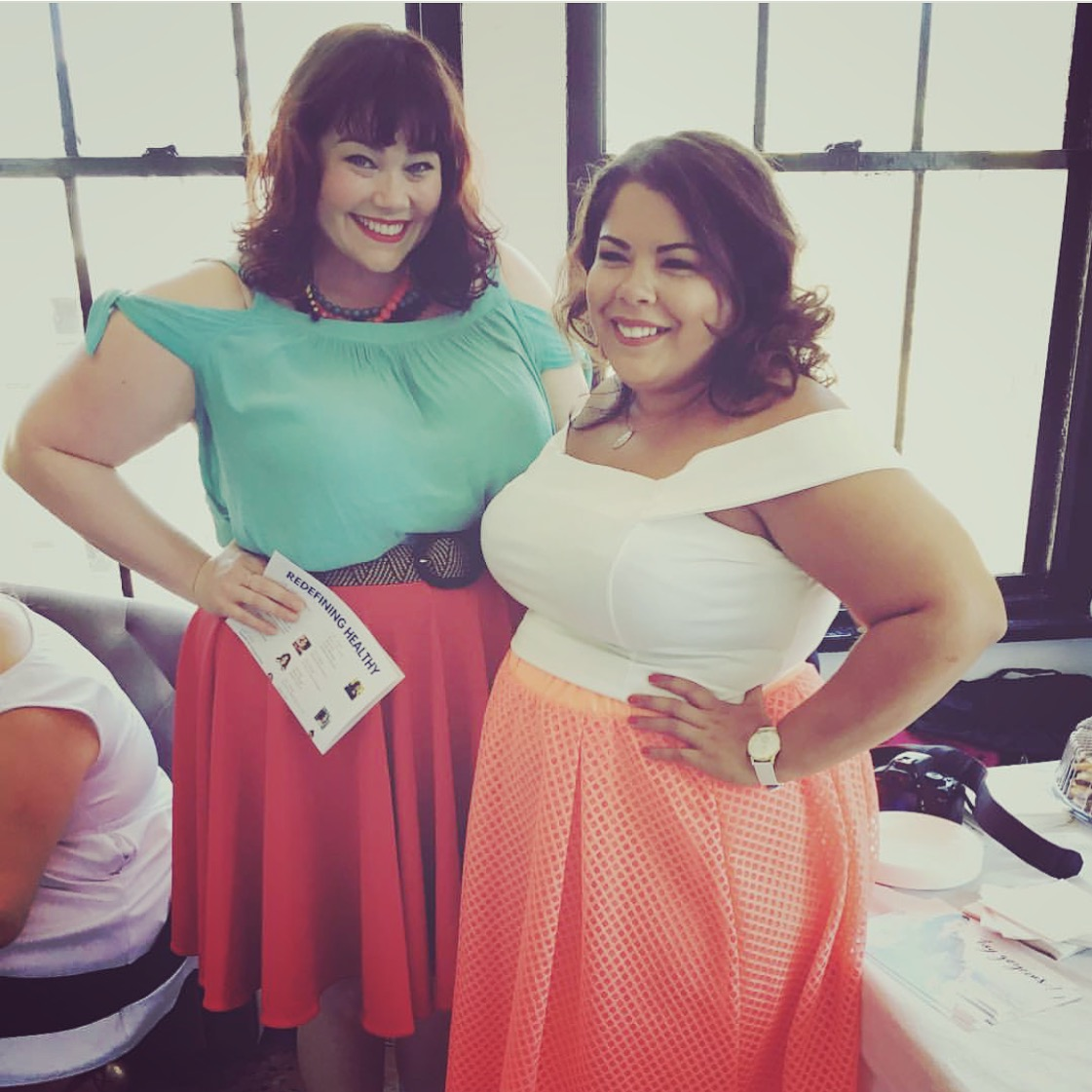 Plus Size Bloggers Amber from Style Plus Curves with Darlene from Suits, Heels and Curves