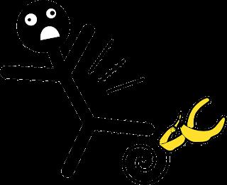 Resultado de imagem para escorregar na casca de banana png