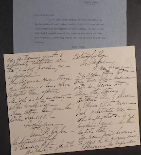 Letters quoted in text concerning Orozco painting in Baker Library