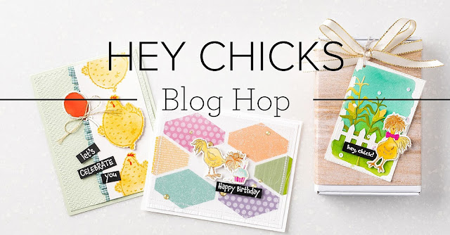 Hey Chicks Blog Hop banner | Nature's INKspirations by Angie McKenzie
