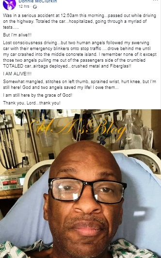 Gospel Singer Donnie Mcclurkin Survives A Severe Mid-Night Car Accident, Rescued By Angels
