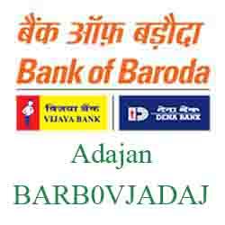 Vijaya Baroda Bank Adajan Branch New IFSC, MICR
