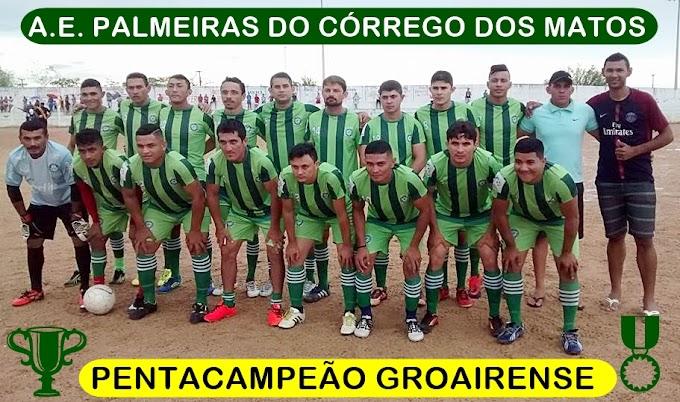 Palmeiras do Córrego dos Matos é o campeão groairense/2017