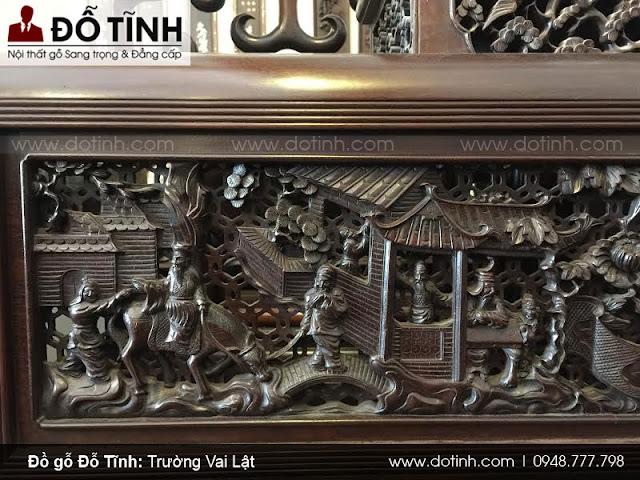 Trường vai lật tích Tam Quốc - Mẫu trường kỷ cổ đẹp Việt Nam