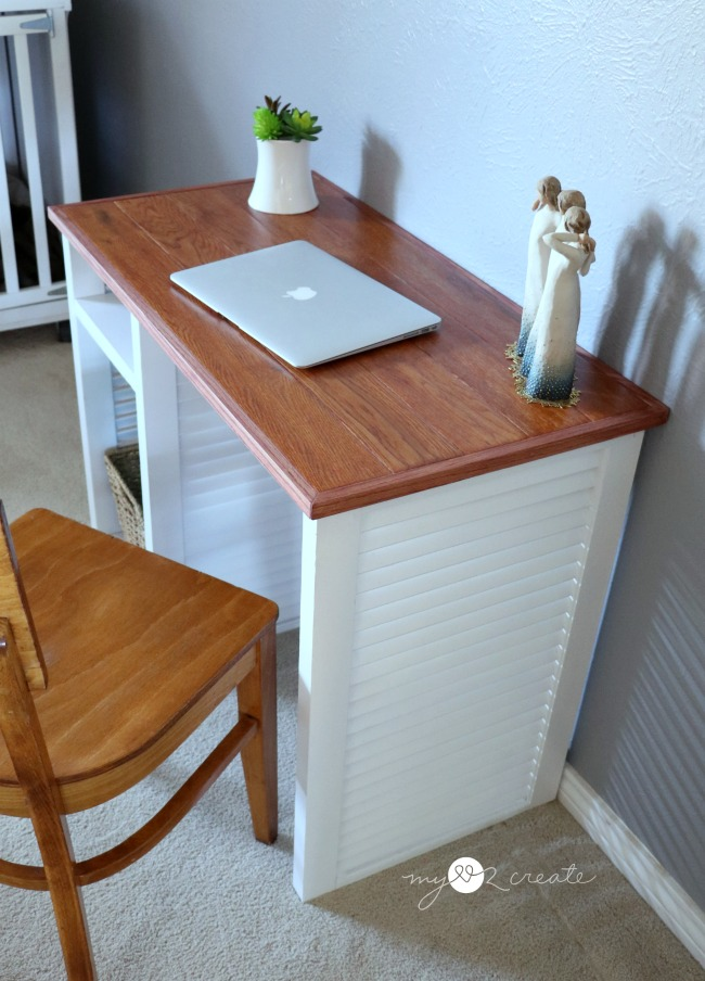 How to make a Repurposed Shutter Desk full picture tutorial, MyLove2Create