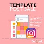 Jual Template Post / Story Instagram, Facebook, WhatsApp dan Semua Medsos