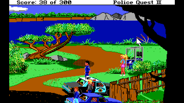 Screenshot from Police Quest II