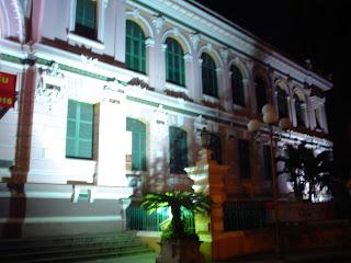 Ufficio postale centrale di Saigon. Vietnam