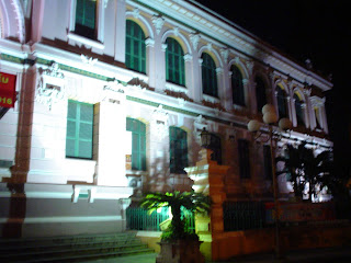 Bureau de poste central de Saigon. Viêt-Nam
