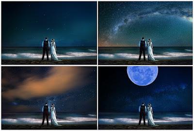 Background Bầu Trời đêm