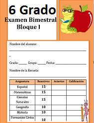 Examen del  Bloque 1 Ciclo escolar 2016-2017 Sexto grado