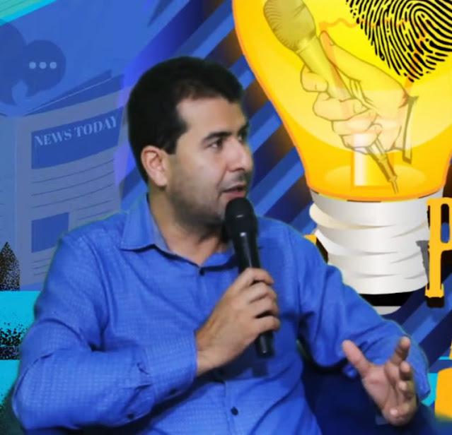 Prefeito Ruben Lima em entrevista a TV Panelas