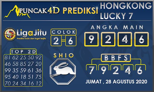 PREDIKSI TOGEL HONGKONG LUCKY7 PUNCAK4D 28 AGUSTUS 2020