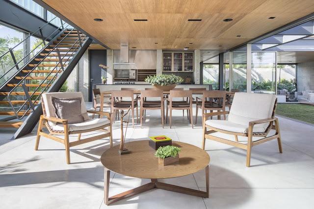 Projeto Casa Ribas criado pelo Estúdio MRGB - Ambiente Integrado e com Boa Iluminação e Ventilação