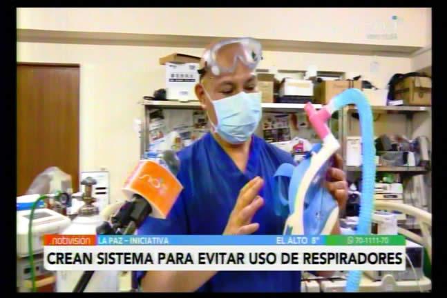 En Bolivia médicos crean sistema para evitar el uso de respiradores