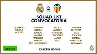 La Lista de Zidane para recibir al Valencia