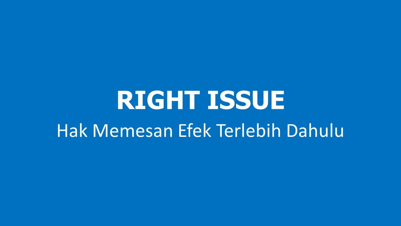 Ilustrasi Right Issue