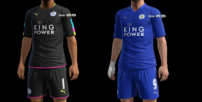 3f0d7a05d PES 2013 Leicester City Official Kits 2016-17. CREDITS  Strex Kitmaker