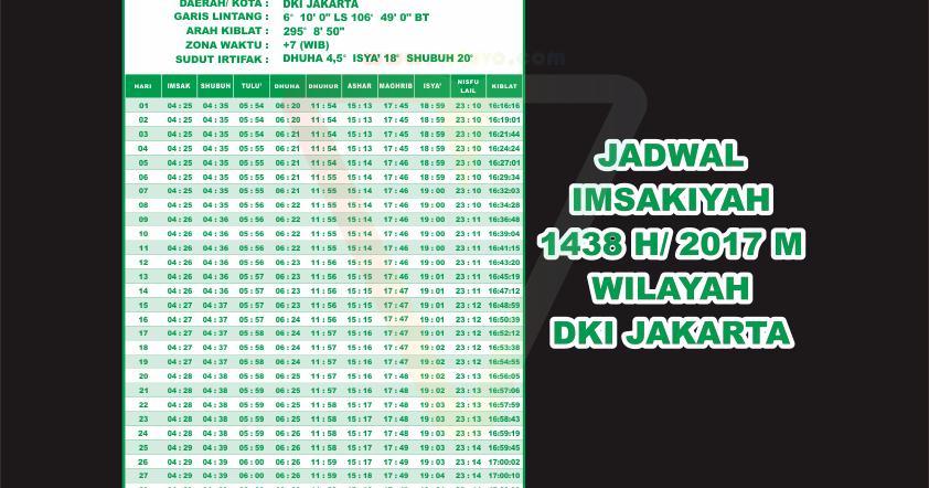Jadwal Imsakiyah  M Wilayah Dki Jakarta Vector Cdraiepssvgpngjpg Voluvo