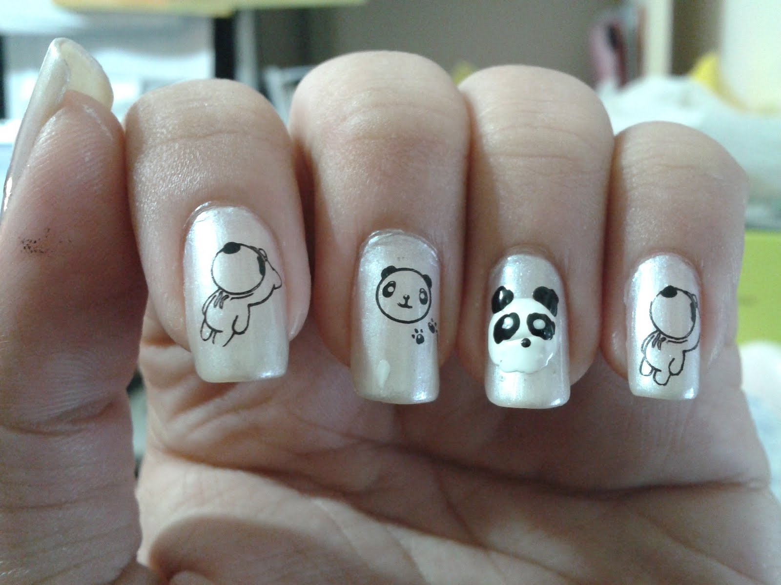 Lust For Nails Panda Nail Art The Face Shop Pp401 With Konad M56 S10 And M10