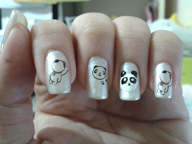 lust nails panda nail art