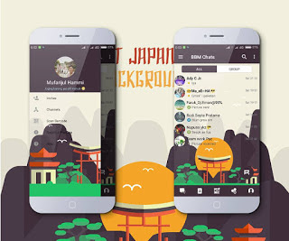 BBM Mod Tema MI-Japan Landmark v3.3.1.24 For Android