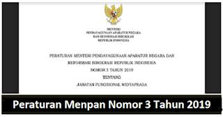 Peraturan Menpan Nomor 3 Tahun 2019 Tentang Jabatan Fungsional Widyaprada