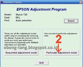 Cara Reset Epson Stylus T20
