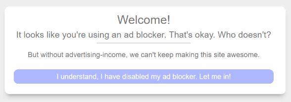 Blogger ant adblock