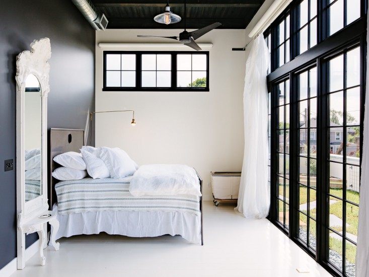 Elegant Industrial Loft Bedroom
