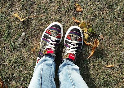 trampki Inkkas etniczne buty etno boho stylizacja z trampkami blog modowy