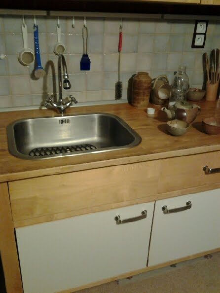 Kitchen Sink Counter And Cabinets