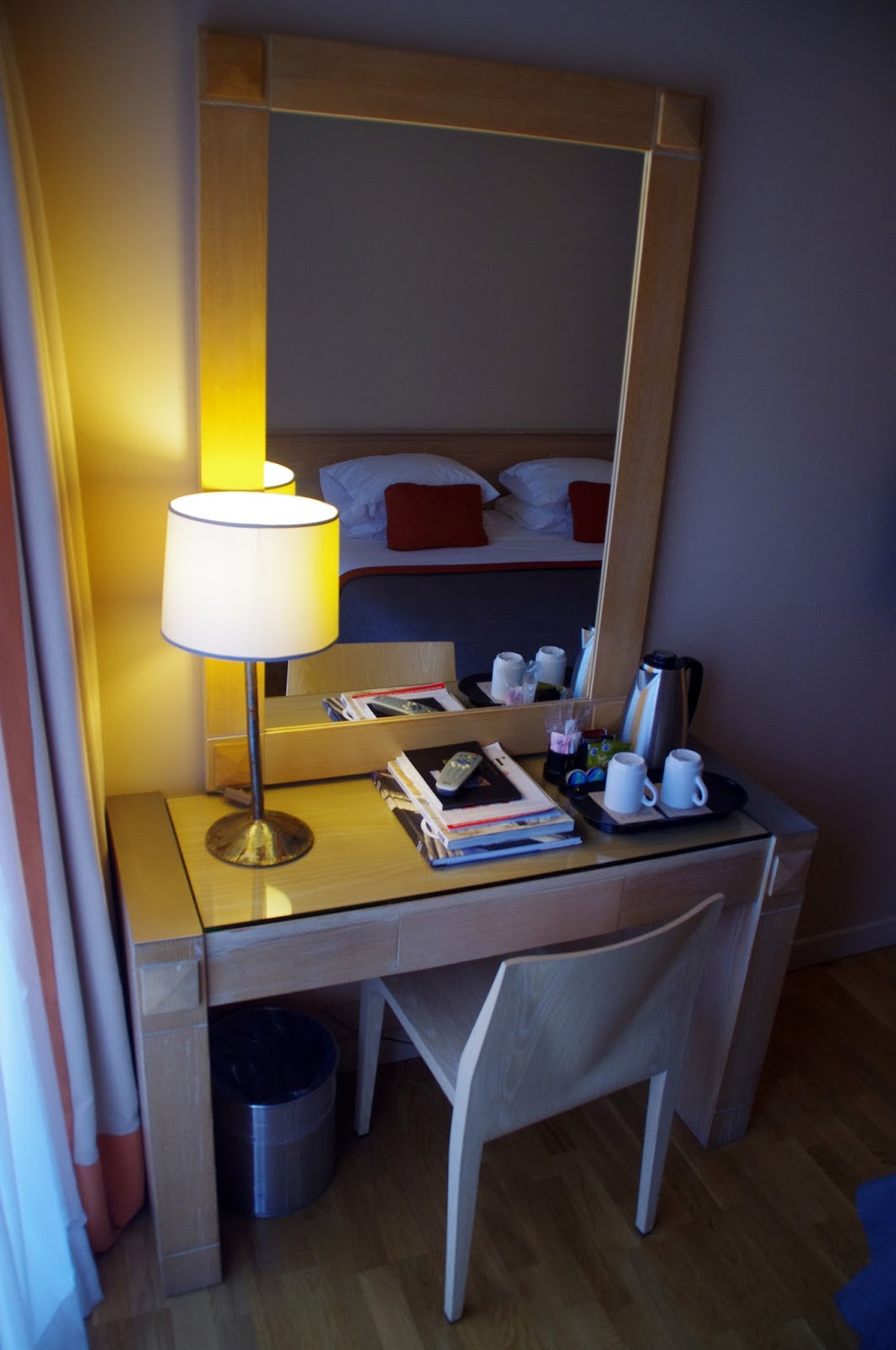 The Herodion Hotel Mirror and Desk