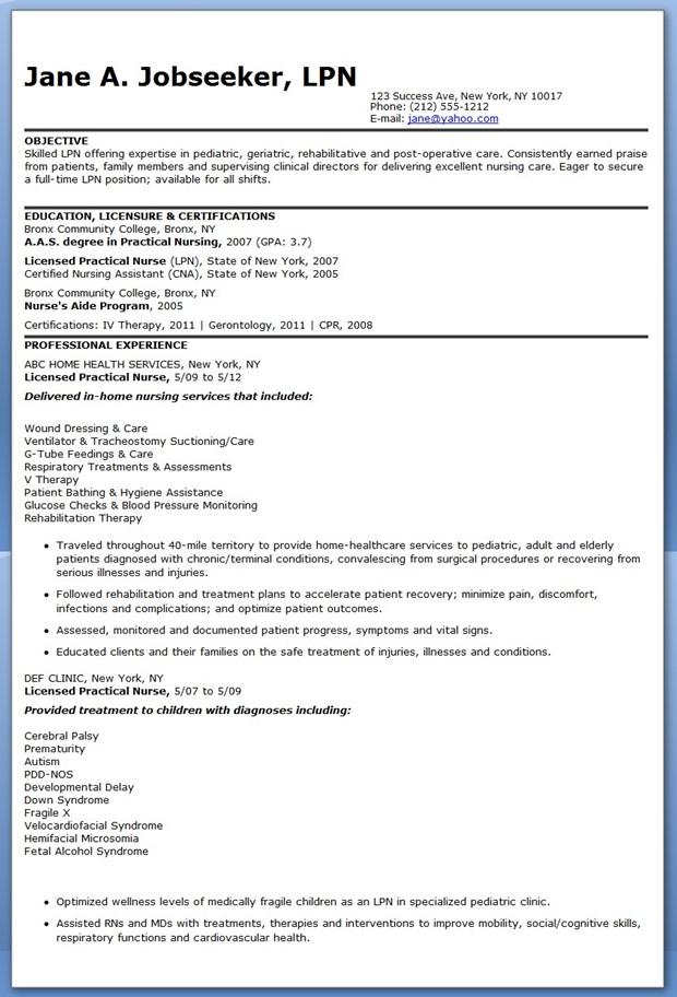 Lpn Resume Sample Resume Licensed Practical Nurse Sample Of Lpn Resume Sample Resumes