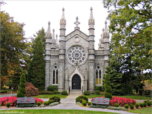 Bigelow Chapel en el Mount Auburn Cemetery, Cambridge