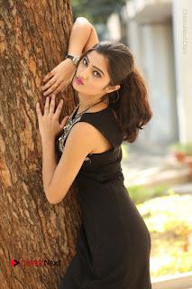 Actress Poojitha Pallavi Naidu Stills in Black Short Dress at Inkenti Nuvve Cheppu Movie Platinum Disc Function  0043.JPG