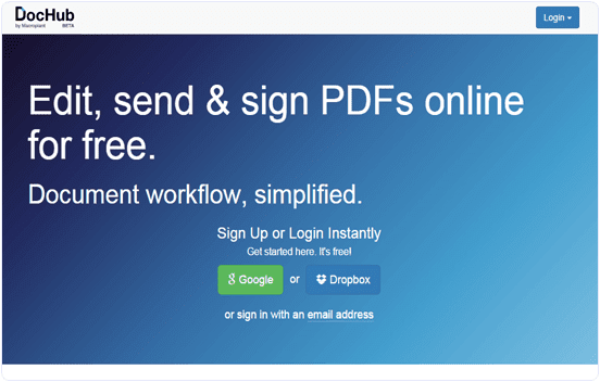 Dochub.com online PDF editor