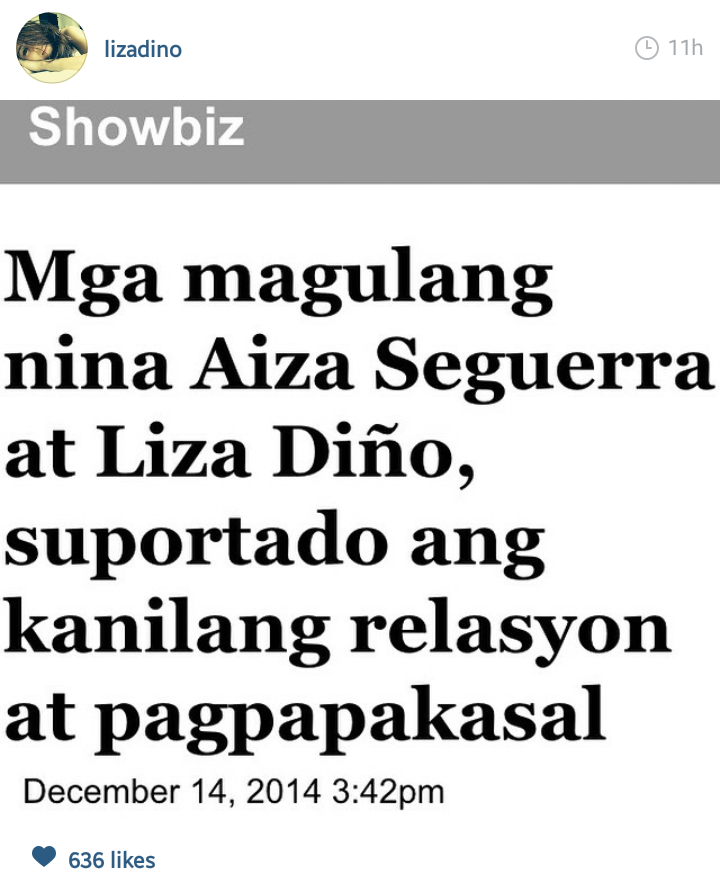Fashion PULIS: Insta Scoop: Liza Dino Thanks Parents and