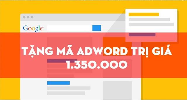 Chia sẻ mã tín dụng Adwords 1300k