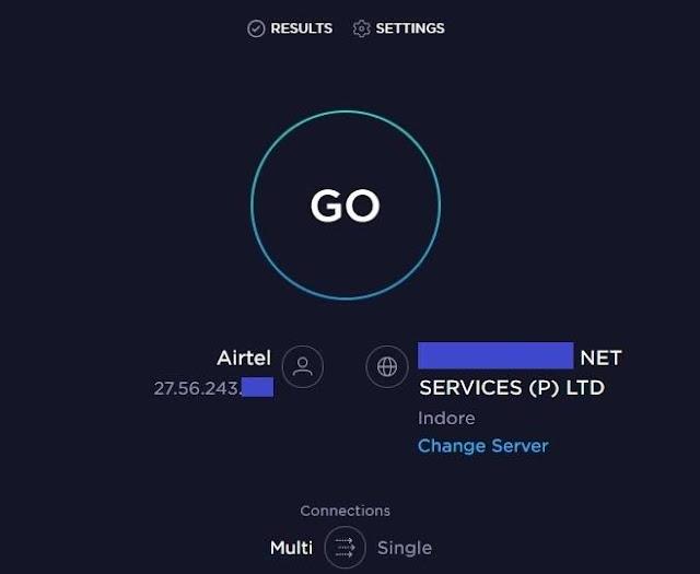 Using Speedtest.net