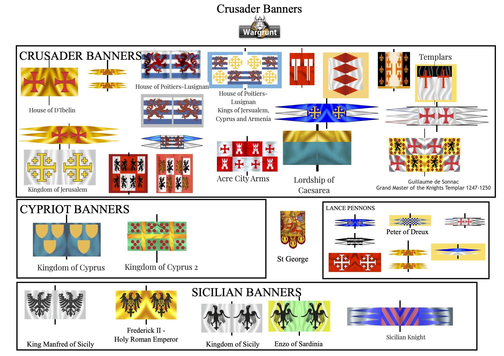 LA VALEUR MILITAIRE DES ARMÉES DE LA PREMIÈRE CROISADE pour Nicolas III Crusader%2BBanners