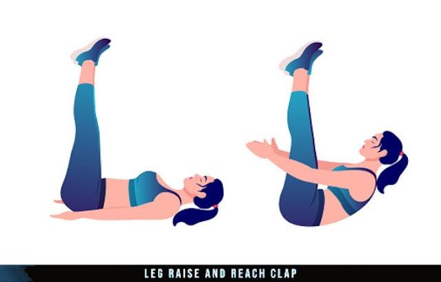 leg raise clap