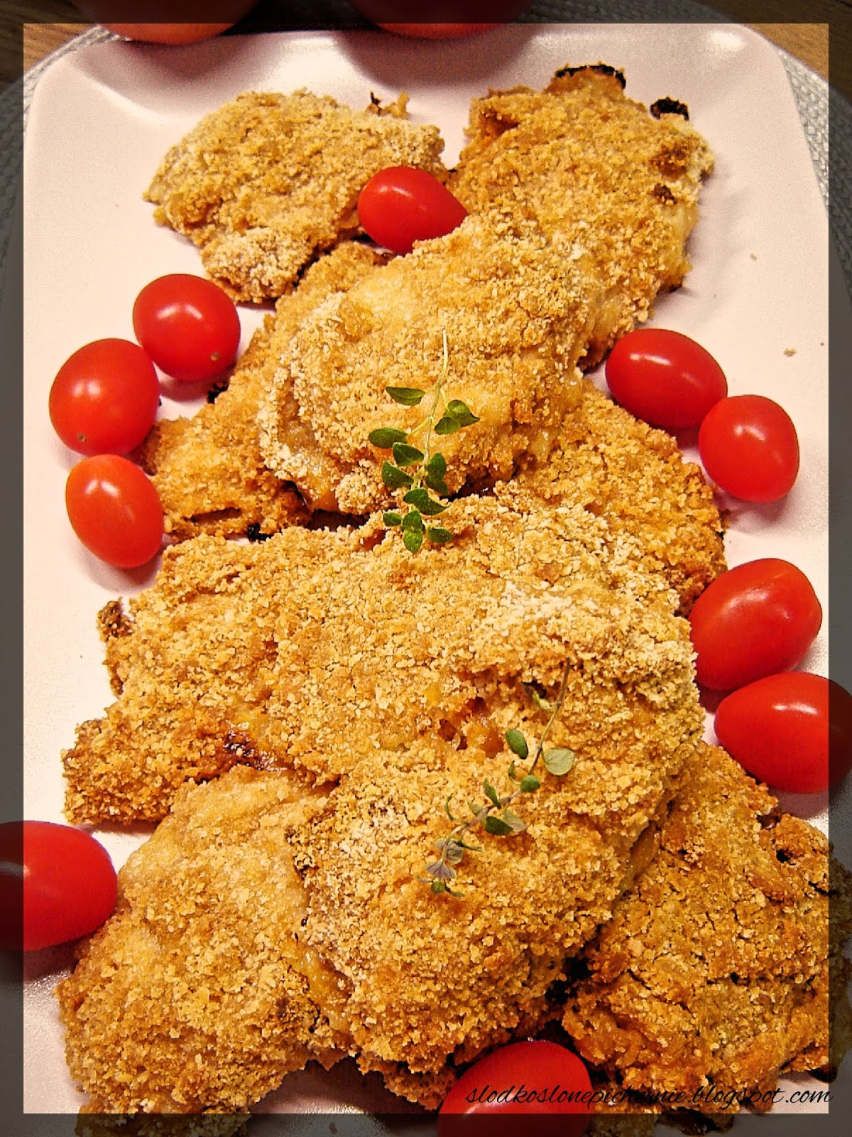 Kąski z kurczaka w kefirze i krakersach