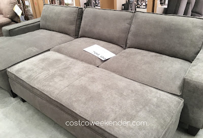Relax in comfort and style on the Chaise Sofa with Storage Ottoman
