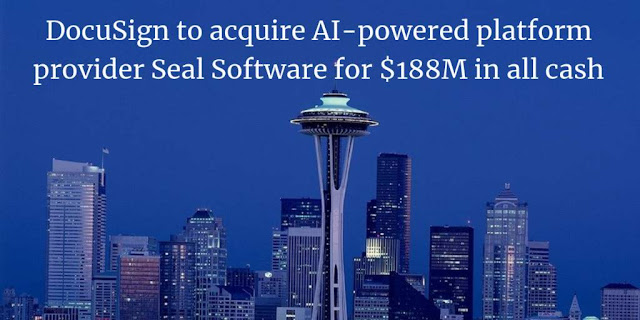 DocuSign to acquire AI-powered platform provider Seal Software for $188M in all cash deal
