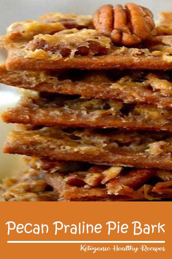 Pecan Praline Pie Bark