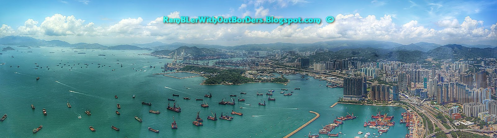 Aerial view, West Kowloon, Hong Kong