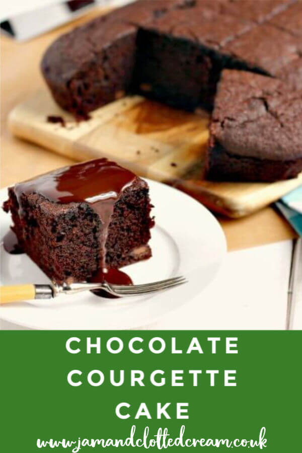 Chocolate Courgette Cake with a chocolate glaze - a great recipe for using up a glut of courgettes from the allotment #courgettes #chocolatecake #cake #baking